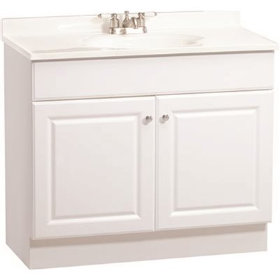 Rsi Home Products Part C14136a Rsi Home Products 36 In X 31 In X 18 In Richmond Bathroom Vanity Cabinet With Top With 2 Door In White Bathroom Vanities With Tops Home Depot Pro