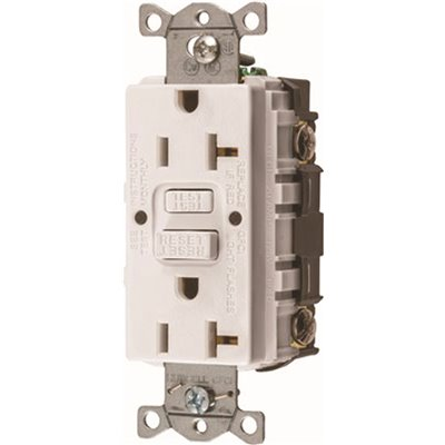 Hubbell Wiring Part Gfrst20w Hubbell Wiring 20 Amp 125 Volt Nema 5 20r Autoguard Commercial Standard Gfci Receptacle White Gfci Receptacles Home Depot Pro