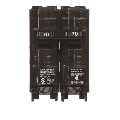 Siemens Part # Q270 - Siemens 70 Amp Double-Pole Type Qp
