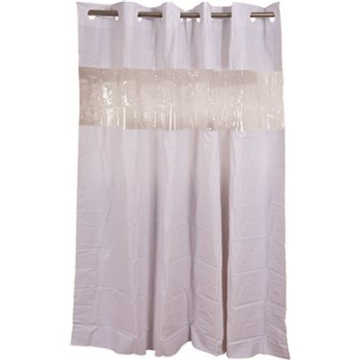 Hookless Clear Shower Curtain.Hookless Part Hbh08vis01 Hookless 71 In X 74 In White