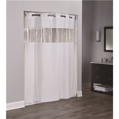 Hookless Clear Shower Curtain.Hookless Part Hbh08vis05 Hookless Vision 71 In X 74 In