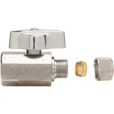 OD Tube Outlet Brass Straight Valve BrassCraft 3//8 In FIP Inlet x 3//8 In