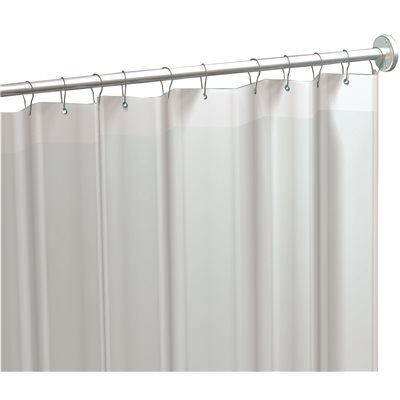 AMERICAN SPECIALITIES VINYL SHOWER CURTAIN 42 IN X 72 WHITE