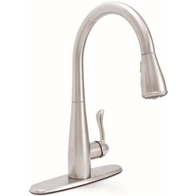 Premier Part 67720 0001 Premier Sanibel Single Handle Pull Down Sprayer Kitchen Faucet In Stainless Steel Pull Down Spray Kitchen Faucets Home Depot Pro