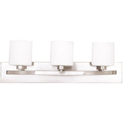 Monument Part 2466377 Monument 3 Lights Brushed Nickel Bath Light Vanity Lighting Home Depot Pro