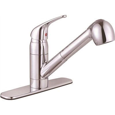 Premier Part 65826w 1001 Bayview Single Handle Pull Out Sprayer Kitchen Faucet In Chrome Spray Faucets Home Depot Pro