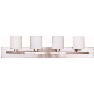 Brushed Nickel 2 Globe Vanity Bath Light Bar Interior Lighting Fixture