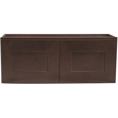 Design House Part 613901 Design House Brookings Plywood Assembled Shaker 30x12x12 In 2 Door Wall Kitchen Cabinet In Espresso Kitchen Cabinets Home Depot Pro