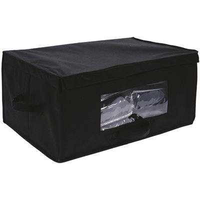 HOSPITALITY 1 BLANKET STORAGE BOX IN BLACK, CASE OF 20
