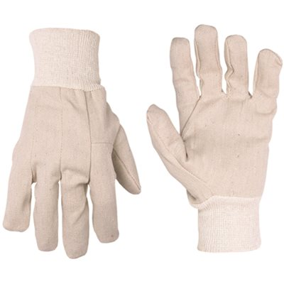 CLC ECONOMY COTTON CANVAS WORK GLOVES, ONE SIZE FITS ALL