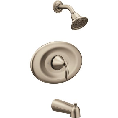 Moen Bathroom Brushed Nickel PosiTemp Tub And Shower Trim Kit One Lever Handle