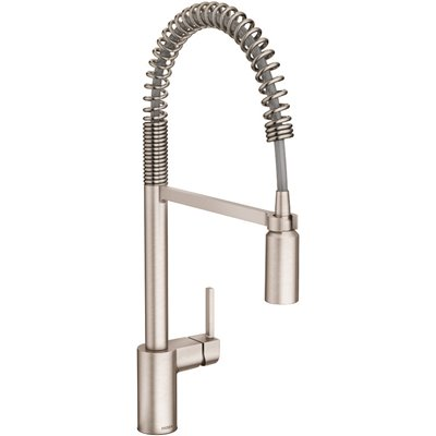 Moen Part 5923srs Moen Align Single Handle Pull Down Sprayer Kitchen Faucet With Power Clean And Spring Spout In Spot Resist Stainless Pull Down Spray Kitchen Faucets Home Depot Pro
