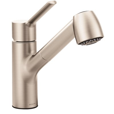 Moen Part 7585srs Moen Method Single Handle Pull Out Sprayer Kitchen Faucet With Power Clean In Spot Resist Stainless Pull Out Spray Kitchen Faucets Home Depot Pro