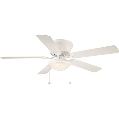National Brand Alternative Part Al383iled Wh 52 In Hugger Indoor White Ceiling Fan With Light Kit Ceiling Fans Home Depot Pro