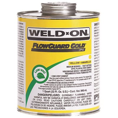 Weld-On Part # 11029 - Weld-On 4 Oz  Flowguard Gold Cpvc Low