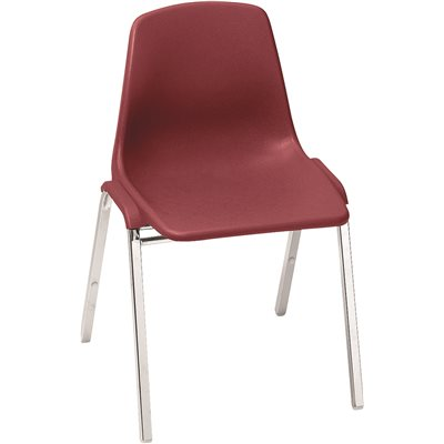 Ordinaire NATIONAL PUBLIC SEATING POLY SHELL STACK CHAIR BURGN