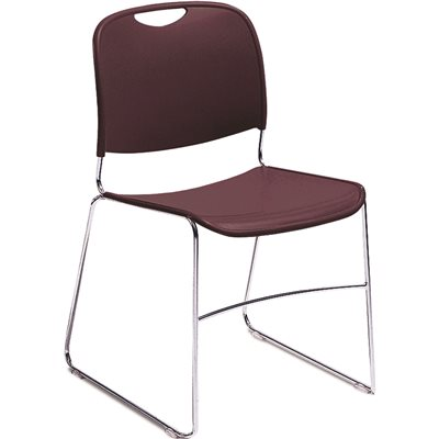 Genial NATIONAL PUBLIC SEATING CMPCT STACK CHAIR WINE