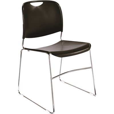 NATIONAL PUBLIC SEATING CMPCT STACK CHAIR BLACK