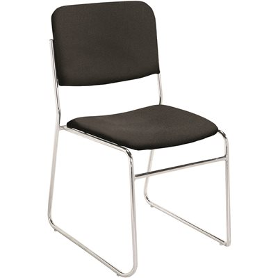 NATIONAL PUBLIC SEATING FABRIC STACK CHAIR EBNY BLK