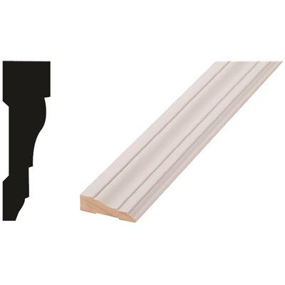 Woodgrain Millwork Part 10000531 Woodgrain Millwork Wm 366 11 16 In X 2 1 4 In X 84 In Primed Finger Jointed Door And Window Casing Moulding Floor Moulding Home Depot Pro