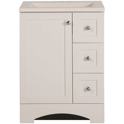 Delicieux D BATH VANITY AND VANITY TOP IN WHITE