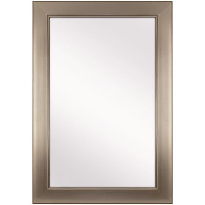 Home Decorators Collection Part 81156 Home Decorators Collection 24 In W X 35 In H Framed Rectangular Anti Fog Bathroom Vanity Mirror In Modern Nickel Vanity Mirrors Home Depot Pro
