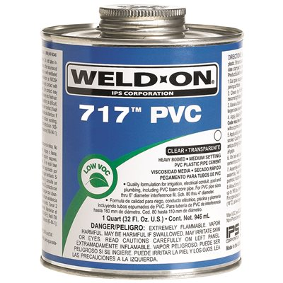 WELD ON 717 HEAVY-DUTY PVC CEMENT PINT CLEAR