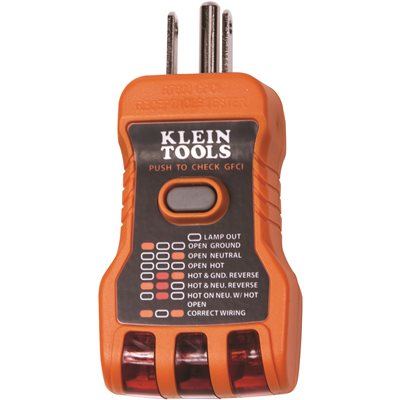 Pleasing Klein Tools Part Rt600 Klein Gfci Receptacle Tester Wiring Digital Resources Antuskbiperorg