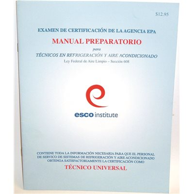 Esco Institute Part # 608SPM - Hvac Epa 608 Certification ...