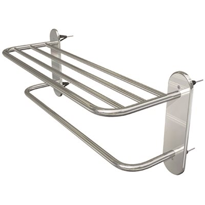 WINGITS MASTER STRUCTURAL TOWEL RACK, 24 IN. WIDE, POLISHED STAINLESS STEEL