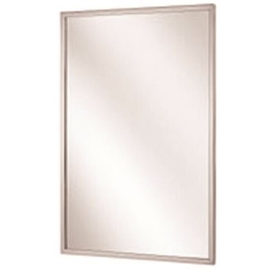 BRADLEY CHANNEL FRAME MIRROR, STAINLESS STEEL, 24X36 IN.