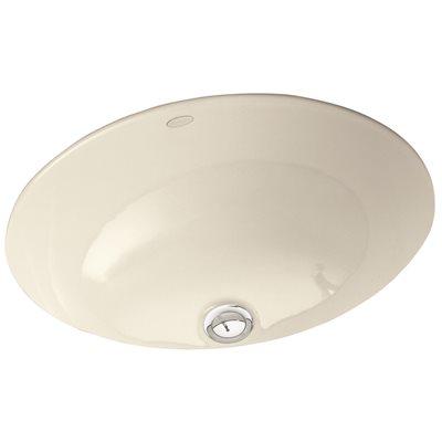 Beau KOHLER Caxton Vitreous China Undermount Bathroom Sink In White With  Overflow Drain