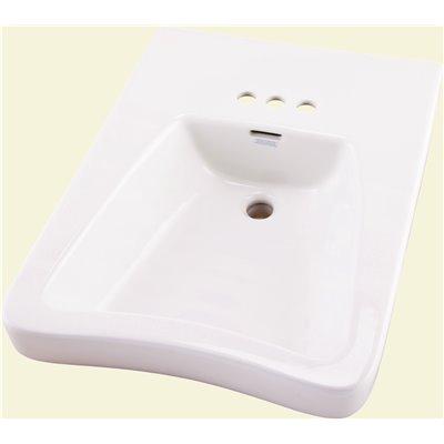 Gerber Part 12 464 Gerber Eaton Wall Mount Bathroom Sink In White With Overflow Drain Bathroom Sinks Home Depot Pro