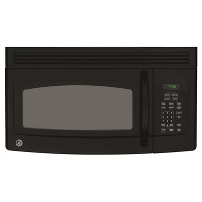 GE® 1.7 CU.FT. OVER-THE-RANGE MICROWAVE OVEN, BLACK, 1000 W