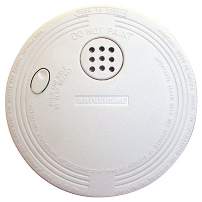 USI IONIZATION SMOKE AND FIRE ALARM 9 VOLT