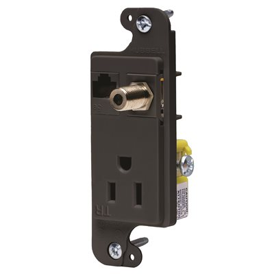 Hubbell Wiring Part # RJ650BKTR - Hubbell Wiring Jload Mm Outlet