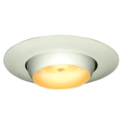 National brand alternative part recessed lighting metal eyeball recessed lighting metal eyeball trim 6 in white aloadofball Images