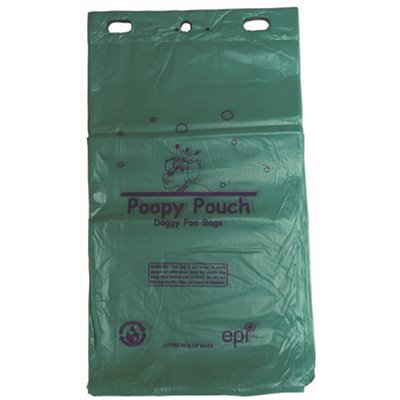 POOPY POUCH PET WASTE HEADER BAGS 12 HEADERS PER CASE 200 BAGS PER HEADER