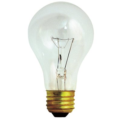 SATCO® INCANDESCENT LAMP, VIBRATION SERVICE, A19, 60 WATTS, 130 VOLTS, MEDIUM BASE, CLEAR