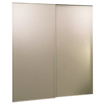 Home Decor Innovations 100 Series Vinyl Bypass Door White 48x96 In