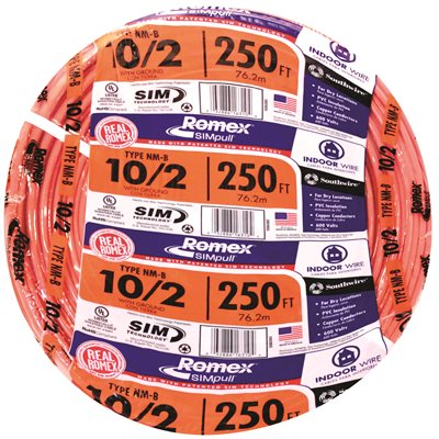 75aa2bdfcbc5 Southwire Part # 28829055 - Southwire 250 Ft. 10/2 Solid Romex ...