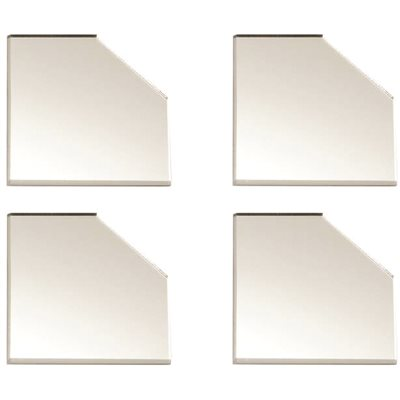 ACRYLIC MIRROR CORNER COVER PLATE, 4 PLATES PER PACK