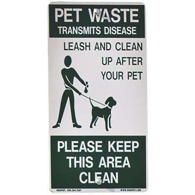 Highland Products Part # - Highland Products Alum On-Leash Pet Sign