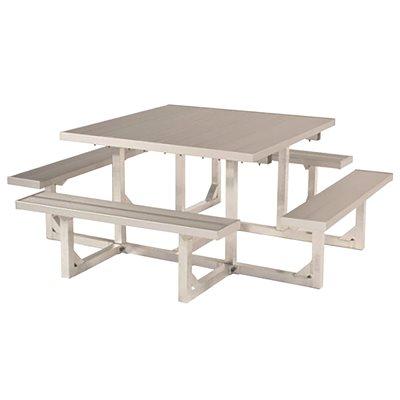 Highland Products Part Square Aluminum Picnic Table - Aluminum picnic table frame