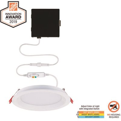 Commercial Electric Part 91302 Commercial Electric Slim Baffle 6 In New Construction And Remodel Color Selectable Canless Led Recessed Kit Flush Mount Ceiling Lights Home Depot Pro