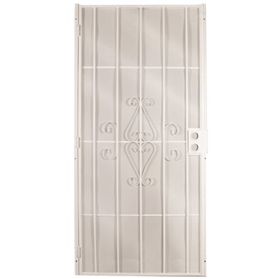 STEEL SECURITY DOOR 36 INCH X 80 INCH WHITE
