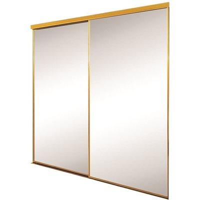 SAVOY MIRROR BYPASS WARDROBE DOOR WHITE FRAME AND TRIM 47X96 IN.  sc 1 st  Wilmar & Contractors Wardrobe Part # SAVOY 4/0X8/0 MIRROR - Savoy Mirror ...