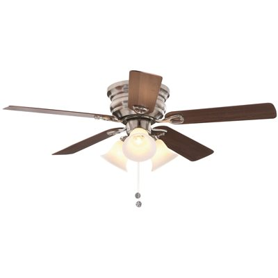 National Brand Alternative Part Cf544h Peh Bn Clarkston 44 In Indoor Ceiling Fan With 3 Tulip Light Kit Brushed Nickel With Maple Walnut Blades Ceiling Fans Home Depot Pro