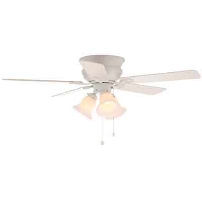 Clarkston 44 In Indoor Ceiling Fan With 3 Tulip Light Kit