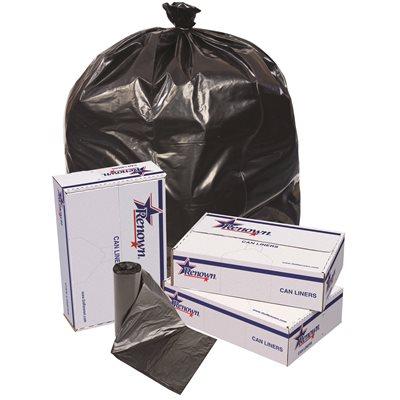 Renown REN25621 CA Trash Can Liners 43 x 47 56 gal 1 7 mil Black Pack of
